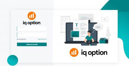 Como abrir uma conta de negociação e registrar-se no IQ Option