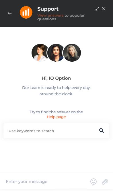 Como entrar em contato com o suporte da IQ Option